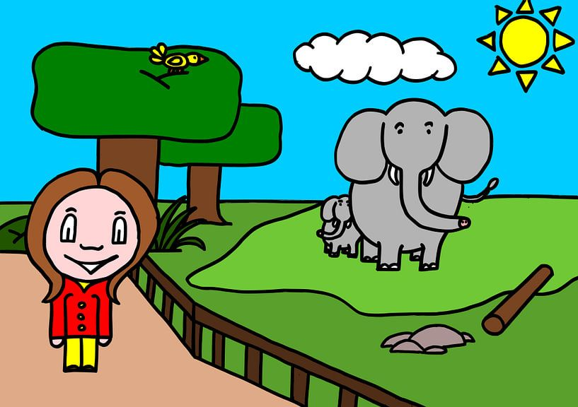 SUZ - zum Zoo (Elefant) von AG Van den bor