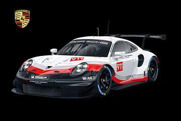 Porsche 911 RSR mit Wappen von Gert Hilbink