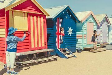 Farbige Strandhäuser