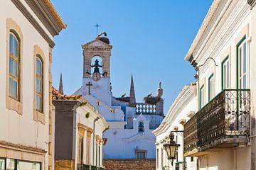 Oude stad in Faro in de Algarve van Werner Dieterich