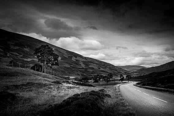 Landschap Schotland (zwart/wit)