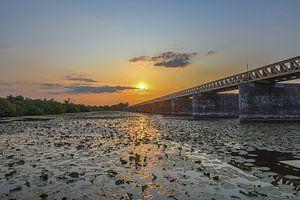 Zonsondergang bij de Moerputtenbrug