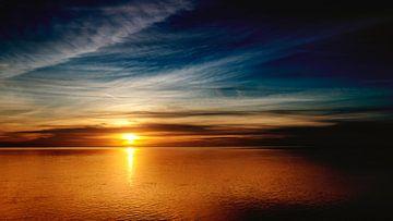 Die Schönheit des Wattenmeeres ist bei Sonnenuntergang sicherlich wunderschön von Studio de Waay