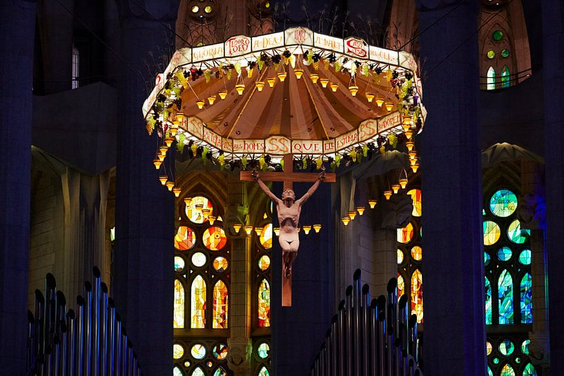 Jezus in de Sagrada Famillia van Giovanni de Deugd