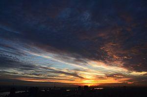 Prachtige Wolkendek boven Rotterdam