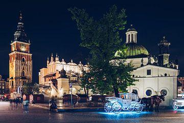 Krakau - Hauptmarkt bei Nacht von Alexander Voss