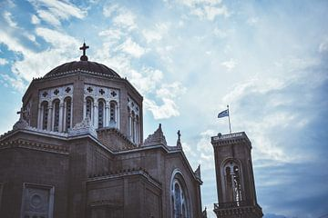 Kirchengebäude in Athen von Maartje Abrahams