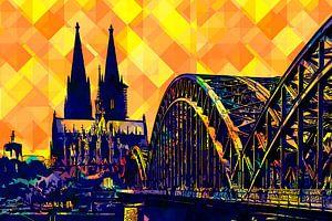 Köln Panorama Pop Art von Michael Bartsch