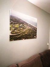 Klantfoto: Circuitpark Zandvoort in vogelvlucht van Leon Weggelaar, op canvas