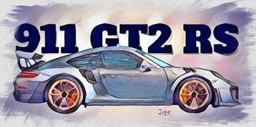 Porsche 911 GT2 RS 2018 von JiPé digital artwork