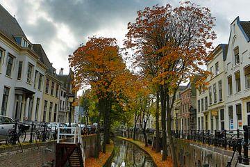 Zicht op de Nieuwegracht Utrecht van Menno Bausch