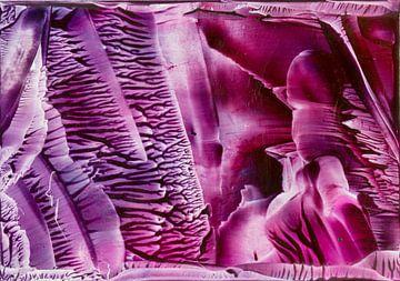 Encaustic Art roze paars wit zwart