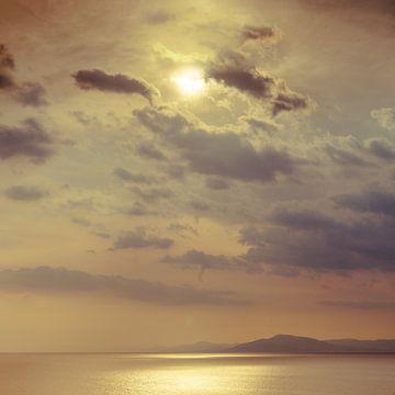 Blick von der griechischen Halbinsel Pilion von Marcel Bakker