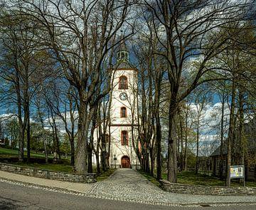 Het alledaagse levenslandschap in de Erzgebirgekerk in Jöhstadt van Johnny Flash