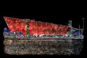 Nemo Wissenschaftsmuseum bei Nacht (Kunst)