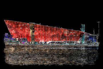 Musée des sciences Nemo de nuit (art) sur Art by Jeronimo