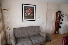 Kundenfoto: Rosen in einer Glasvase, Jacob van Hulsdonck, als gerahmtes poster