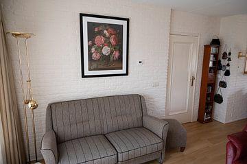 Kundenfoto: Rosen in einer Glasvase, Jacob van Hulsdonck