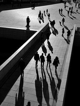 Laufende Leute (schwarz\weiss) von Marc Smits