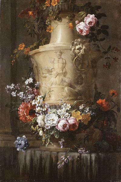 Marble Vase with Garland of Flowers, Jean-Baptiste Monnoyer von Meesterlijcke Meesters