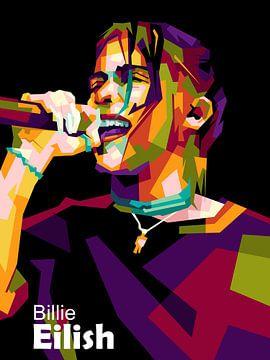 Billie Eilish wpap van miru arts