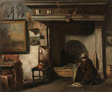 Das Atelier des Haarlemer Malers Pieter Frederik van Os, Anton Mauve