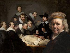 Rembrandt bezoekt de anatomische les