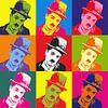 Charlie Chaplin Popart van Laurance Didden thumbnail