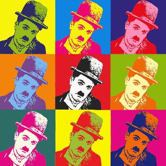 Charlie Chaplin Popart van Laurance Didden