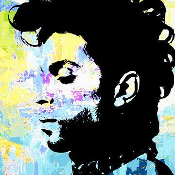 Prince Abstract Portret in Diverse Kleuren van Art By Dominic