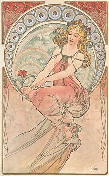 Kunst: Schilderkunst - Art Nouveau Schilderkunst Mucha Jugendstil