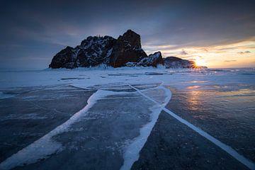 Kap von Khoboy, Baikalsee, Russland. von Sven Broeckx