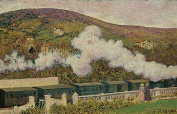 Darío de Regoyos~ Vorbeifahrender Zug
