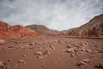Blick auf die Oase rund um den Lauf des Rio San Pedro, San Pedro de Atacama, Chile von Tjeerd Kruse