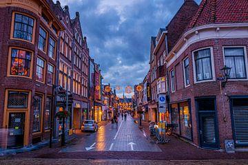 Langestraat bij avond van peterheinspictures
