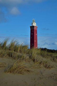 Leuchtturm bei Ouddorp an der Nordsee von Patricia Fotografie