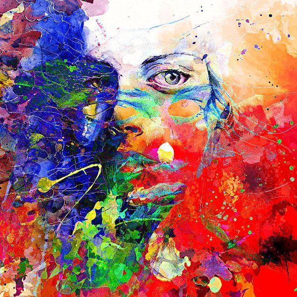 Face behind colors von PictureWork - Digital artist