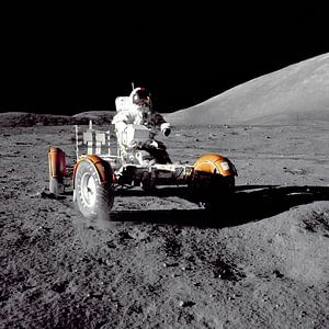 Astronaute dans le Rover