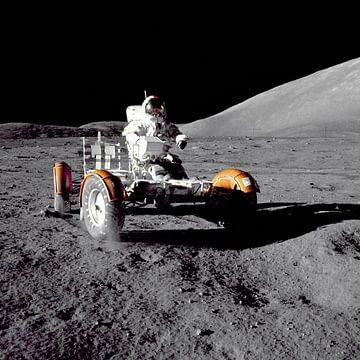 Astronaut im Rover von Digital Universe