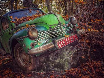 Groene oldtimer Renault van Creativiato Shop