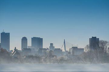 Foggy Rotterdam Skyline von