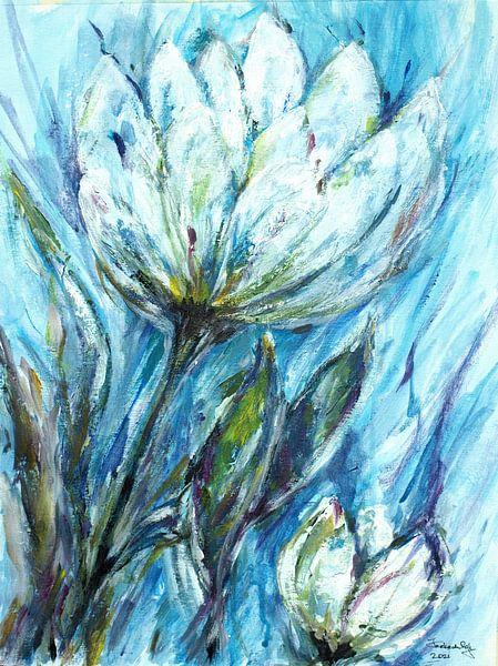 Des tulipes blanches. sur Ineke de Rijk