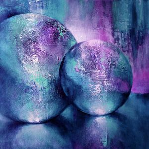 Lichtspel turquoise-violet