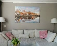 Klantfoto: Spaarndam van Adriaan Westra, op canvas