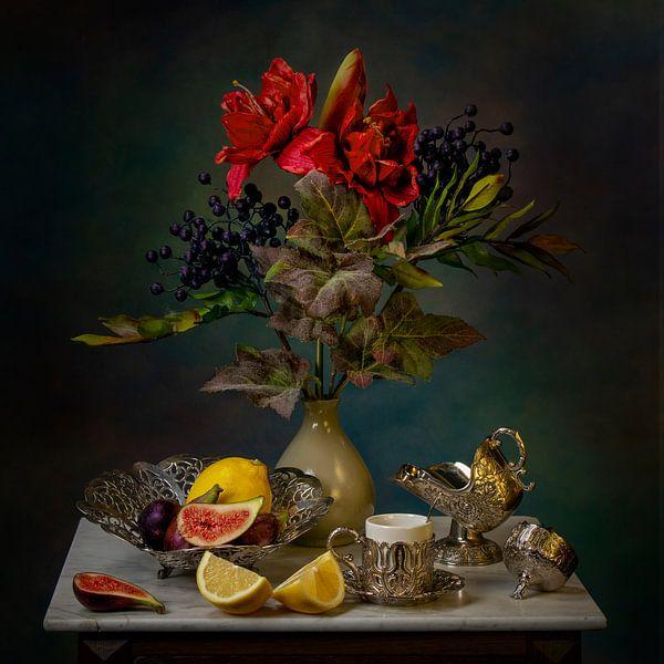 Stillleben Feigen und Zitronen. von Cindy Dominika