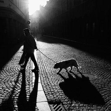 Wanderer mit Hund von FRE.PIC