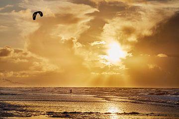 Kitesurfen  van Sjoerd van der Hucht