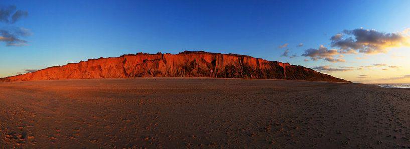Sylt - Panorama de la falaise rouge sur Frank Herrmann