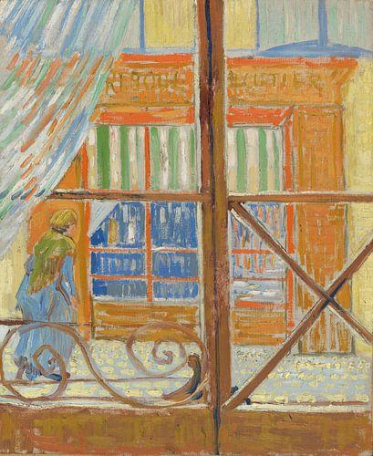 Vincent van Gogh, Gezicht op een slagerswinkel van 1000 Schilderijen