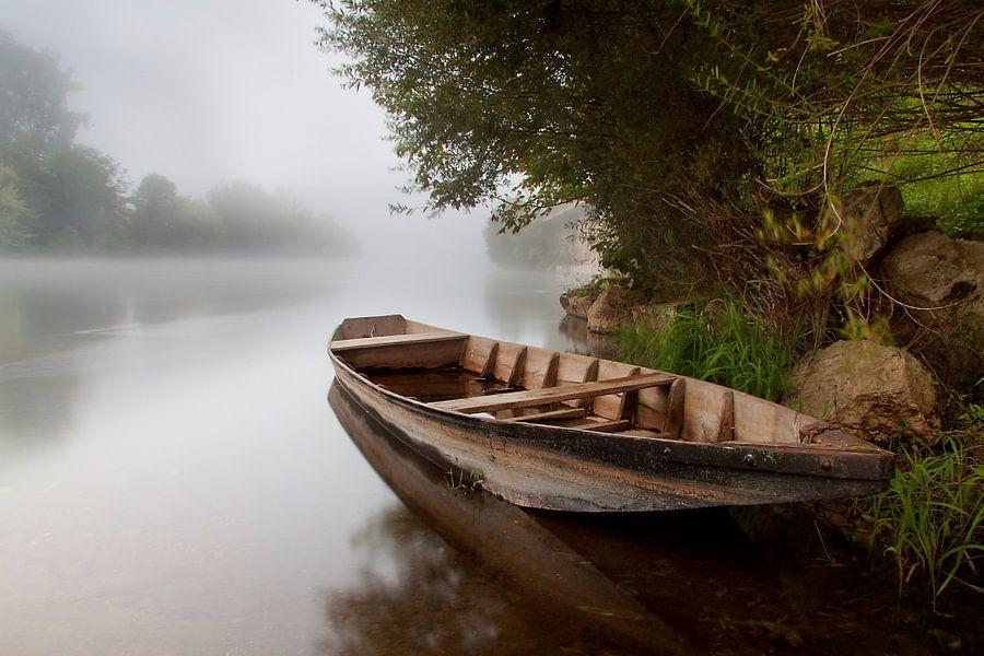 Bootje langs de Dordogne van Peter Halma